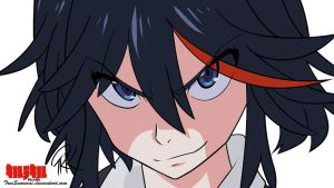 Matoi Ryuuko - Kill la Kill Wallpaper by TreeSamurai