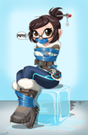Mei chillin out -Commission by gaggeddude32