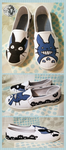 Studio Ghibli + Totoro Shoes by Lai-Tut