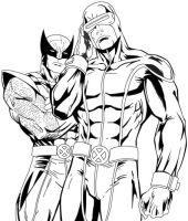 Cyclops and Wolverine by MarvelZombies