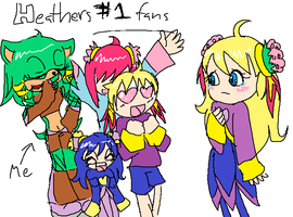 .: Gift - Heather's Fans :. by LeenaZenyo