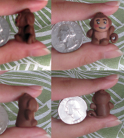 Mini Clay Monkey - Commission by whatonearth
