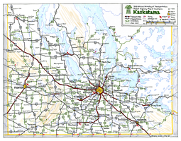 Kaskatama (fictional Canadian province) road map by schreibstang