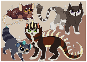 Owl hybrid adoptables [CLOSED] by Pa1nful