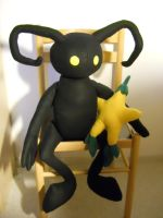 Heartless and Paopu fruit plushie by HedaMiu