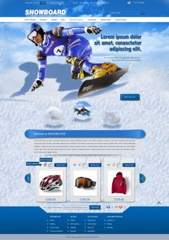Ecommerce snowboard template by loftytemplates