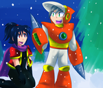 RQ - Nala and Crash in the Snow by Sonicbandicoot