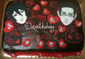 Grell's BD cake by Saya1984