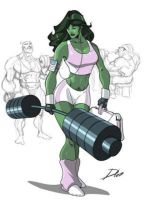 She  Hulk Sensacional ! by ArchiveSW
