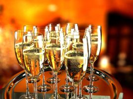 Champagne tray by Hankins