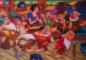 Snow White and the Seven Dwarfs by MartijnPipoo