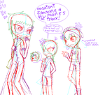 human JingJing, Chase and Akaiai by LiveWireGoth