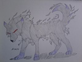 Shadow Wolf by LeMiles13