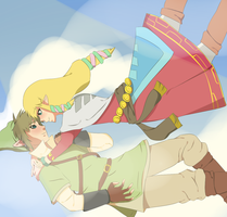 Falling Through The Sky Together by Skaubzz