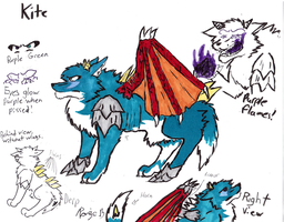 Updated Kite Wolf Ref. by dargon899