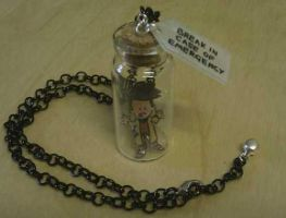 Doctor in a bottle necklace by Lovelyruthie