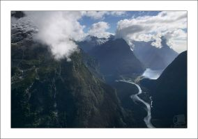 Above Milford Sound, NZ by Inuksuk
