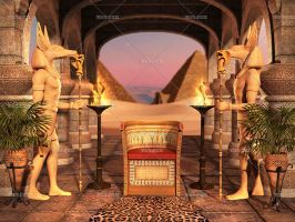 Anubis Throne by Trisste-stocks