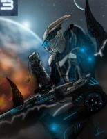 Mass effect 3 Garrus Vakarian by Azlaar