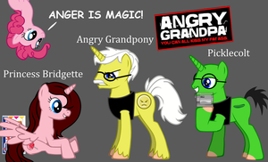 Angry Grandpony: Anger is Magic! by HomerBouvier