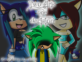 .:Two girls one decision COVER:. by karo123XD