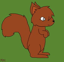 Red Squirrel by MarsieZeWerewolfie