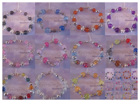 Glass Beaded Bracelets by LiviaAlexandra