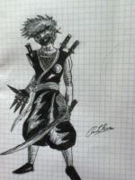sketch of a ninja by AC-98