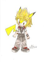 Sonichu cosplaying as Roxas by HirokoTheHedgehog