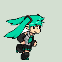 Animated Miku Sprite by AtelierJordan