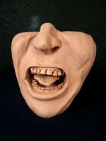 Facial Study - Screaming Face by Anesthetic-X