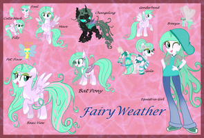 Fairy Weather Reference Sheet by Kazziepones