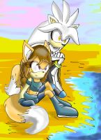 com: at the beach by Blinded-Djinn