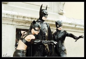 Batman and...two catwomen. by Elessar777