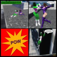 She-Hulk vs Titania 01 by hotrod5