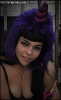 Purple and Sparkly Pink Unicorn Hood by Lady-with-a-buzzsaw