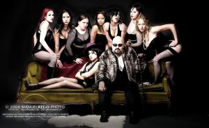 El Pimpo and his muses by StuckpixelPhoto
