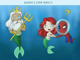 Spider Man meets Daddy by Silverwingfox