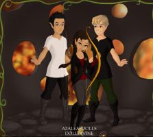 Gale, Katniss and Peeta by KendraKickz0220