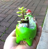 Moving Mountain Planter by PinkChocolate14