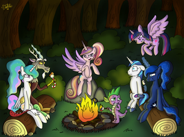 Royal Campfire [Colored] by Dalilastar