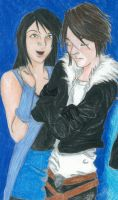 Rinoa and Squall by daggerhime