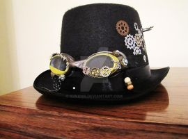 Steampunk Top Hat Front by OzKid96