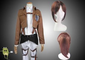 Attack on Titan Sasha Braus Cosplay Costume + Wig by cosplayfield