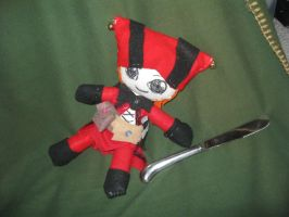 Cicero and a Butterknife by puppetstringz