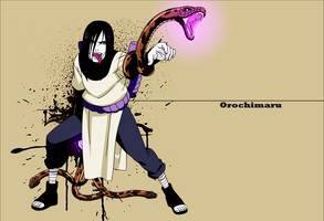 [Naruto]Orochimaru Wallpaper by yoanribeiro