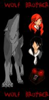 Wolf Brother Bookmark by SilverCanDraw