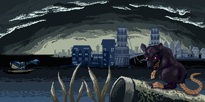 Dishonored Scenery Pixelart by rosedragoness