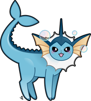 Vaporeon by KrowsyKunst