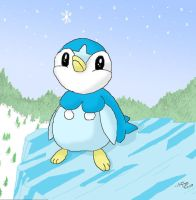 Thoughtful Piplup by Milayou